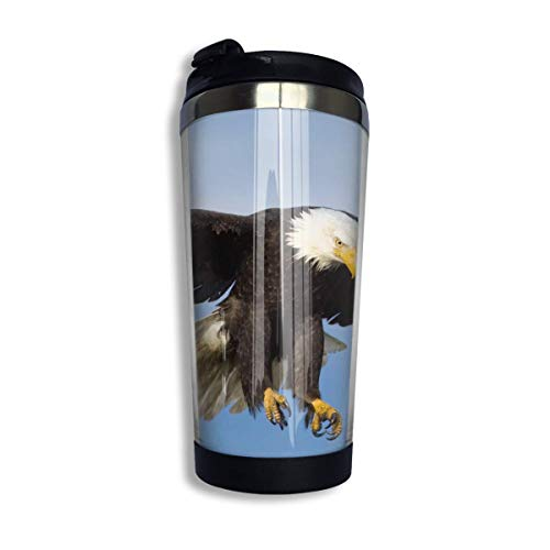 Stainless Steel Coffee Mugs Eagle Travel Coffee Thermal Mug 10 Oz (400ml) Insulated Cup Perfect for Travel, Camping, Hiking, The Beach and Sports -