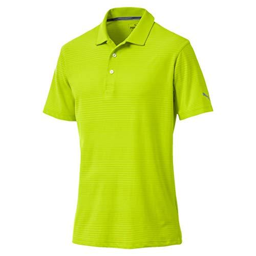 Feuchtigkeit Wicking Golf Polo (Puma Herren Aston Polo Shirt, Limepunch, L)