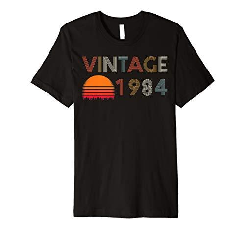 35th Birthday Gift Vintage 1984 T Shirt Men Women Bday