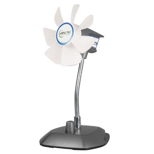 ARCTIC Breeze - Zu heiß im Büro? - Dieser Mini Tisch Ventilator hilft - USB Desktop Lüfter mit flexiblem Hals und einstellbarer Drehzahl