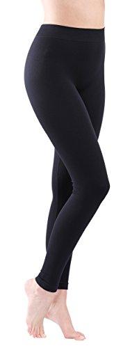 Leggings donna cotone colore nero