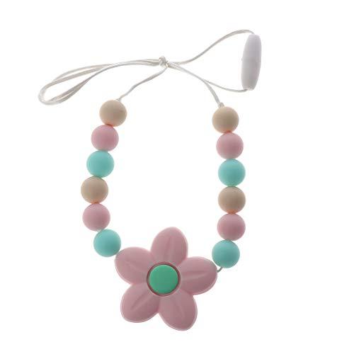 Huihu 1 stück Baby Kinderkrankheiten Halskette für Mama zu Tragen Lebensmittelqualität Silikonperlen Lange Kette Silikon BPA FREI Baby Beißring