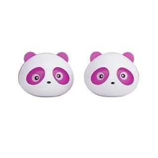 ANKKO 2 Stück Schöne Panda Parfüm Diffusor Duft Auto Lufterfrischer (Rosa)