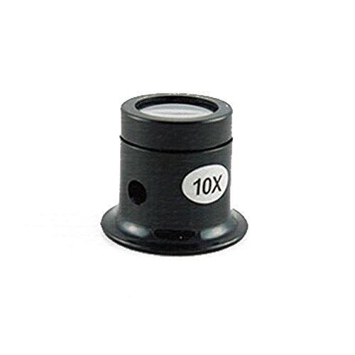 10X Lupe Okular Augenmaske Uhr Reparatur Juwelier (Schwarz)