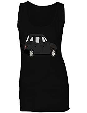 Taxi conductor, novedad, divertido, transporte camiseta sin mangas mujer a701ft