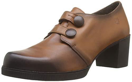 YOKONO Dana, Zapatos de tacón con Punta Cerrada para Mujer, Marrón Marrón 002, 39 EU