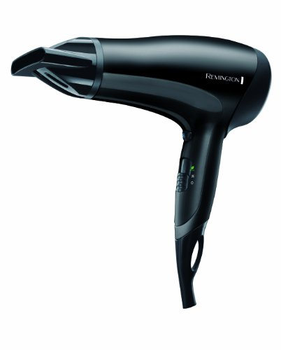 Remington D3010 Asciugacapelli Power Dry, 2000 W, Griglia Ionica in Ceramica