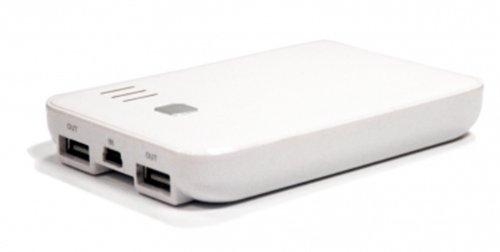 Kit - Caricatore di emergenza Power Junkie con doppia porta USB, 5000 mAh, colore: Bianco