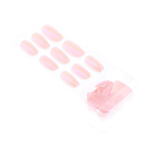 Homyl 24 PiècesFaux Ongles Français Transparents en Acrylique pour Manucure Vernis ou Gel Extension - 04