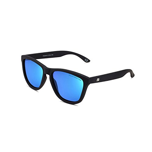 CLANDESTINE Model Kids Matte Black Light Blue - Jungen Polarisierte Sonnenbrillen