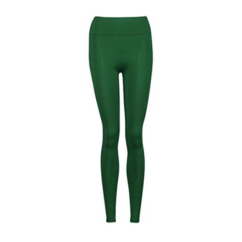Pantalon de sport Femmes Amlaiworld camouflage Leggings de Yoga, Pilates, Plank, Jogging et Fitness Olive