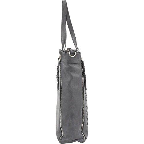 Maestro donna borsa tote pelle 35 cm Marrone