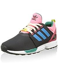 Adidas ZX Flux NPS UPDT CF I - Zapatillas Unisex, Color Rosa/Negro/Blanco/Azul, Talla 19