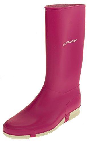 Footwear Studio Dunlop Damen Wasserdichte Gummistiefel Regen Stiefel Rosa EU 41