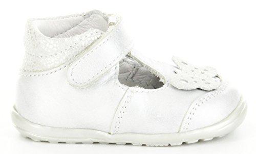Richter Kinderschuhe  Mini  0010-521, Chaussures souples pour bébé (fille) Argent weiss/silber Argent - weiss/silber