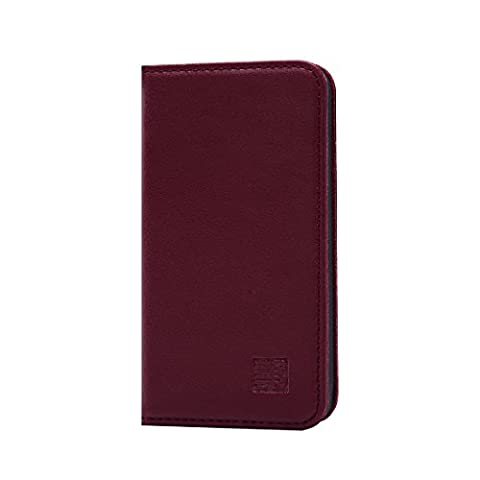 32nd Étui Portefeuille Design Classic en cuir véritable Apple iPhone 4 4S Housse avec fentes CB et Fermeture Magnétique -