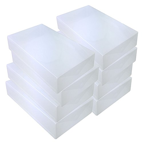 DYNASUN 8X PP384 Schuhbox Schuhkasten Lagerkasten Box Schuhschachtel für Aufbewahrung Stiefel Faltbare Halter für Damen und Herren
