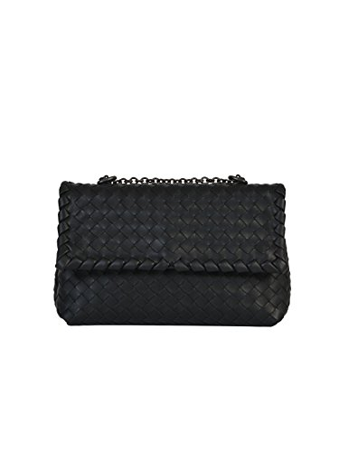 bottega-veneta-womens-405739v00168175-black-leather-shoulder-bag