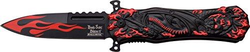 Dark Side Blades Taschenmesser Red Black Dragon Claw, - Liebe Drache Flammen Mit Der