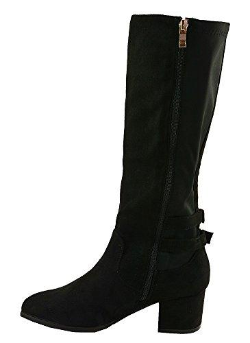 Bottes Suèdine Noir Noir