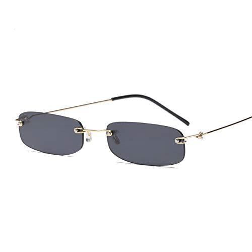 AOCCK Brillen Sonnenbrillen Narrow Sunglasses Men Rimless Summer NEW Red Blue Black Rectangular Sun Glasses For Women Small Face Hot Selling as show in photo clear pink