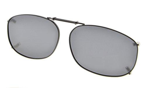 Eyekepper Metallrahmen Felge polarisierte Linse Clip auf Sonnenbrille 54x37MM Graues Linse