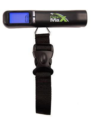 Cabin Max Mini Digital Portable 40kg Travel Luggage Scale with Free Carry Bag, strap and batteries included