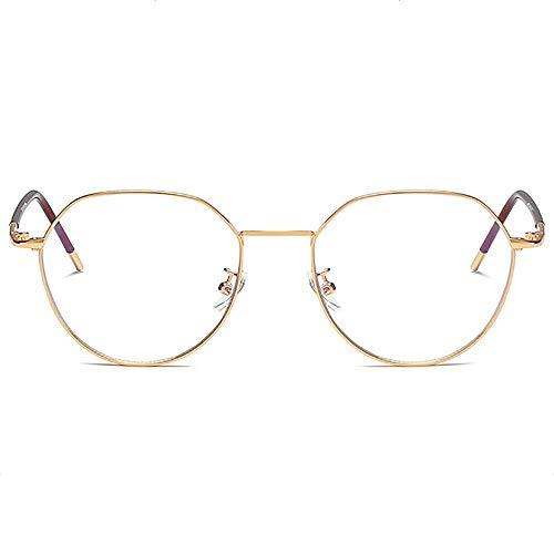 irrégulière Clara lentille lunettes lumière bleue Anti lunettes de ordinateurs pour Blocage UV Fatigue visuelle douleur de tête Lecture lunettes hommes/femmes argent métallique