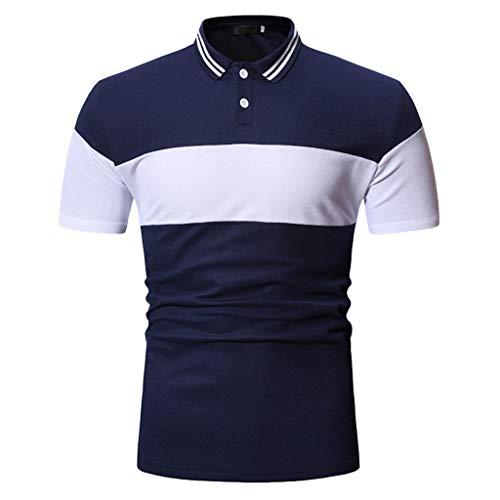 Luckycat Herren Poloshirt Polohemd T-Shirt Shirt Mit Polokragen Basic Herren Slim Fit Polo Shirt aus Pique Baumwolle Kurzarm Polohemd Herren Poloshirts Sommer Kurzarmshirt Polohemden Basic -