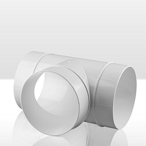 Raccordo a T, Tubo di ventilazione ABS tubo tondo ø 100di scarico del tubo Awenta 100mm, PVC