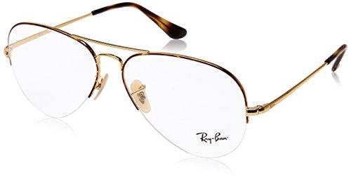 Ray-Ban Unisex-Erwachsene 0rx 6589 2945 56 Brillengestelle, Braun (Gold On Top Havana),