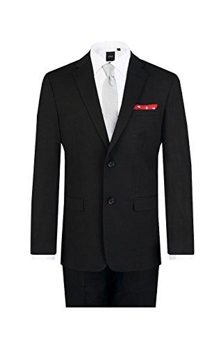 fallendes revers Dobell Herren Schwarzer Anzug zweiteilig Fallendes Revers (114 Jackett mit 114 Hosen)