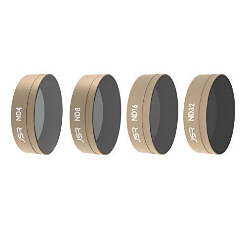Xingsiyue ND4 + ND8 + ND16 + ND32 Objektiv Filter für DJI Osmo Action Kamera - Multi Beschichtet Optisch Glas Neutral Dichte Lens Zubehör