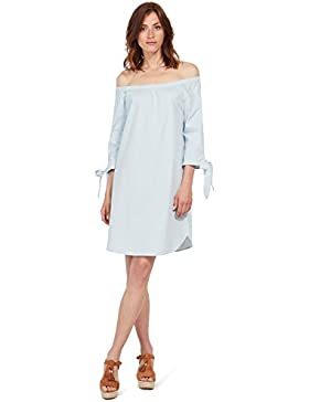 Tom Tailor für Frauen Dress Carmen-Kleid mit Knoten-Detail