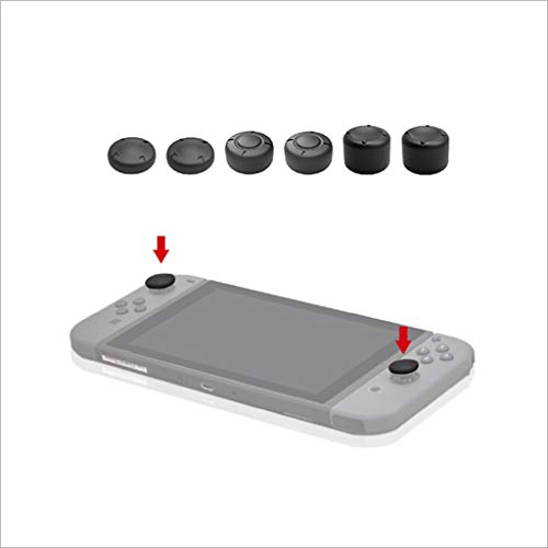 DEESEE(TM) 24 in 1 Box + 6 in 1 Thumbstick Cap Wippschutz für Nintend Switch - Land Indoor-wand
