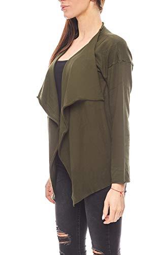 vivance Collection Strickjacke lässiger Feinstrick Damen Cardigan mit überschnittenen Schultern Jäckchen Oliv, Größenauswahl:38 -