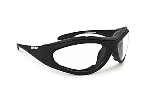 Photochromic Motorcycle sunglasses - antifog anticrash lens with windproof insert - by Bertoni F125A