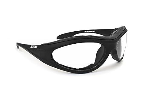 Photochromic Motorcycle sunglasses - antifog anticrash lens with windproof insert - by Bertoni F125A
