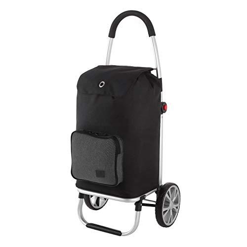 Rada Einkaufstrolley ER/7, robuster Marktroller für den täglichen Einkauf, Handwagen mit 2 Rollen und Griff, Einkaufstrolley mit wasserabweisender Tasche (Volumen 45 Liter) (Anthra)