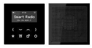 Jung Rad 918 SW Smart Radio - Set Mono Serie LS schwarz