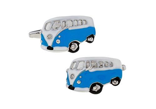 DOLOVE Hemd Manschettenknöpfe Herren Elegant Bus Manschettenknöpfe Blau Herren (Der Bus Andere Welt Ist Eine)