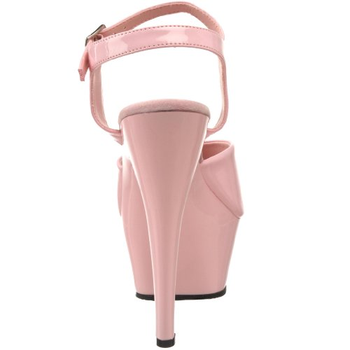 Pleaser Kiss-209, Sandales Bout Ouvert Femme Rose (B. Pink Pat/B. Pink)