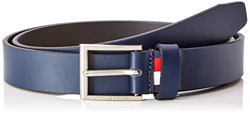 Tommy hilfiger formal belt 3.0 cintura, blu (tommy navy 413), 8 (taglia produttore: 100) uomo