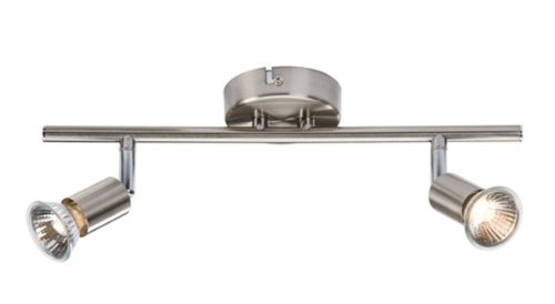 double-brushed-satin-chrome-wall-ceiling-spotlight-bar-mains-230-volt-complete-with-gu10-lamps