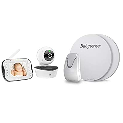 BabySense 7 Medically Certified Baby Breathing Sensor Monitor + Motorola MBP43S  ZAY