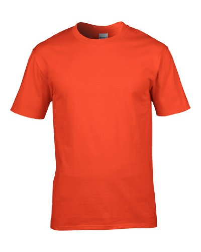 T-Shirt 'Premium Cotton Ring Spun' Orange