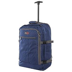CABIN GO cod. MAX 5520 trolley – Mochila para equipaje de mano/cabina de viaje liviana. – 55 x 40 x 20 cm, 44 litros – con ruedas. Aprobado vuelo IATA/EasyJet / Ryanair