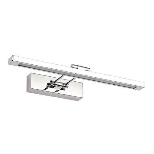 AOFENG 12W LED Spiegellampen Spiegelleuchte Spiegelschrank Wandlampe Bad-Beleuchtung Edelstahl Wasserdicht IP44,Länge 55cm(12W Kaltweiß)