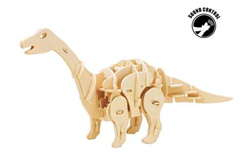 Holz-3D-Puzzles, R/C Sound Controlled Walking Robotic Dinosaurs Toy Model Kit, für Kinder oder Erwachsene (Apatosaurus),SoundControlled (Model Dinosaur Kit)