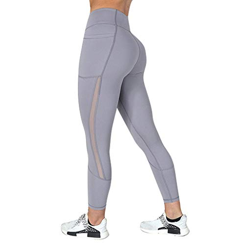 Ncenglings Damen Yogahose Neu Hygroskopisch Schweiß Sport Leggings Tights Sexy Hohe Taille Sporthose Mode Mesh Laufhose Freizeit Hip-up Jogginghose Fitnesshose Winterleggings Stretch Thermoleggings -
